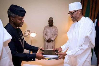 Breaking: Buhari receives report of allegation against SGF, NIA