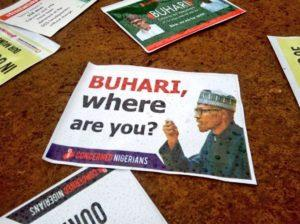 'Buhari where are you', Say Resume or resign, other groups in Nigeria, London