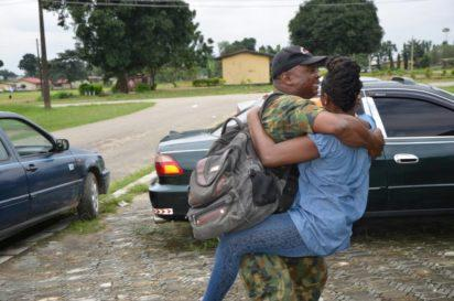 Jubilation in Port Harcourt as soldiers return from restive Northeast