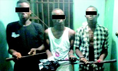 3 robbery suspects arrested with weapons in Enugu