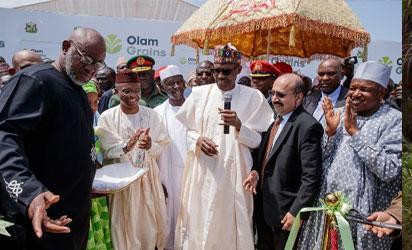 Buhari inaugurates N30b Olam poultry, feed mill