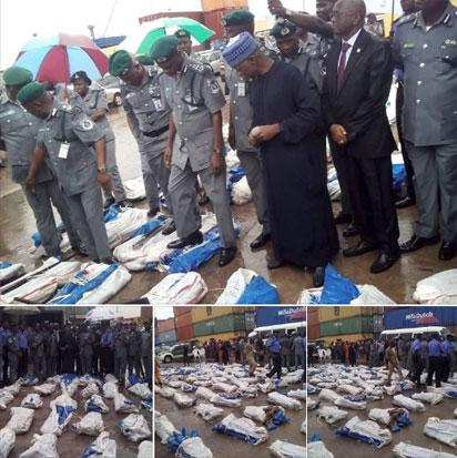 Photos: 1,100 pump action riffles seized by Customs in Lagos