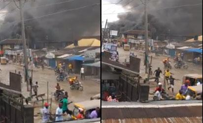 Breaking(Video): Rivers on fire, everybody on the run over alleged IPOB/army clash