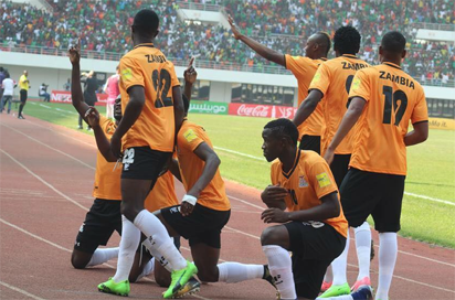 Chipolopolo land in Uyo