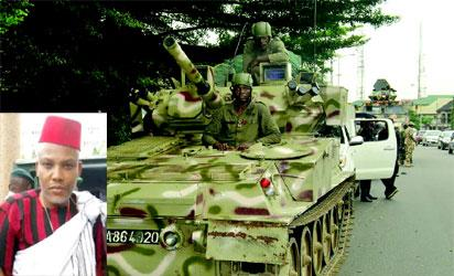 IPOB to int'l community: Ask Nigerian military why it raided Kanu's house