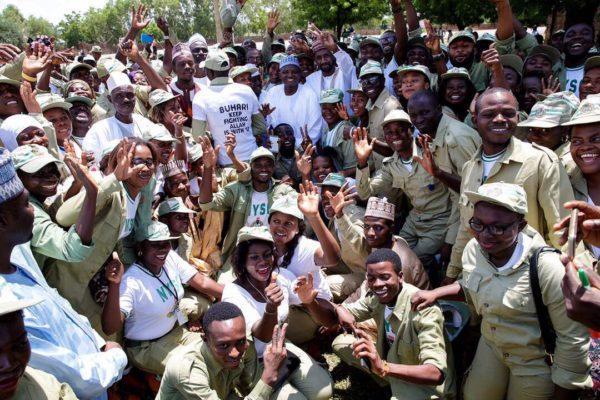 Sallah: Read what Buhari told corps members who visited him in Daura