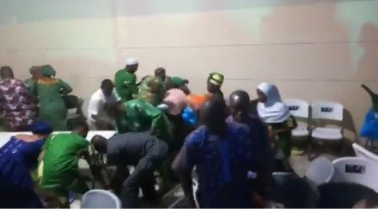 Shocking(Video): Hungry delegates at restructuring meeting allegedly fight over food, drinks