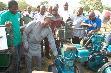 Dogara storms Akoko-Edo as Akpatason empowers scores of constituents
