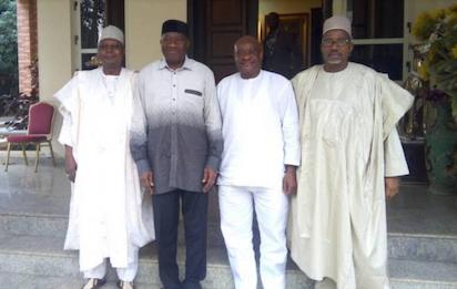 PDP former Ministers visit ex-President Jonathan