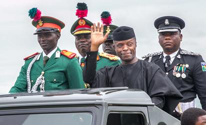 Osinbajo commends military's commitment, support for democracy