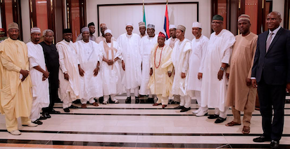 Photos: President Buhari receives National Committee of the Buhari Support Group