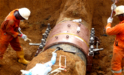 Pipeline carrying Nigeria's Bonny Light crude being fixed