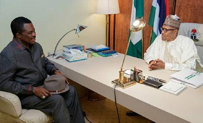 Buhari meets with Obiano, promises free, fair election in Anambra
