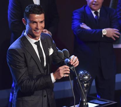 Breaking:  Cristiano Ronaldo wins 2017 Best FIFA Men's Player of the Year award