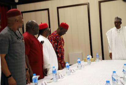 Breaking: President Buhari meets South east leaders