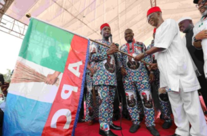 Anambra guber: Onitsha stands still as Osinbajo, Oyegun, APC govs flag off Nwoye's campaign