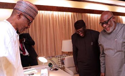 Akeredolu lobbies Buhari for seaport in Ondo