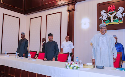 Photos: Buhari meets SGF Boss Mustapha at APC stakeholders meeting