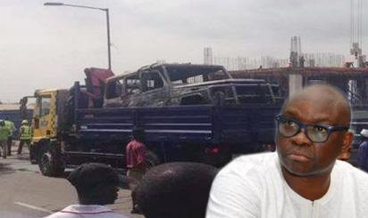 Fire Guts Fayose's Mercedes G Wagon