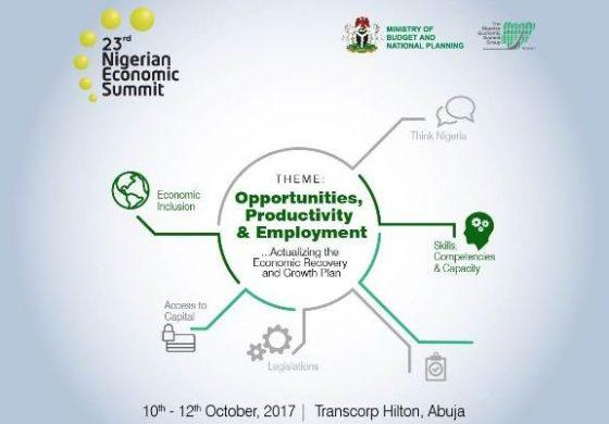 NES23 SUMMIT STARTS OCTOBER 10 – 12, 2017 AT TRANSCORP HILTON:  OPPORTUNITIES, PRODUCTIVITY & EMPLOYMENT TO ACTUALIZE THE ERGP