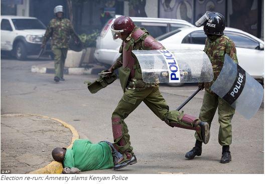 Election re-run: Amnesty slams Kenyan police