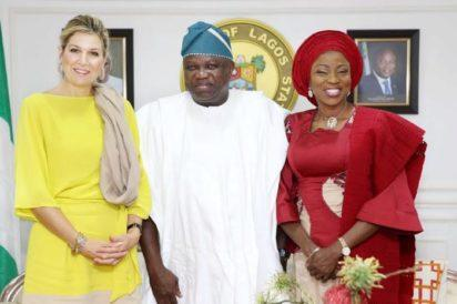 Photos: Queen Maxima Cerruti of the Netherlands with Ambode in Lagos