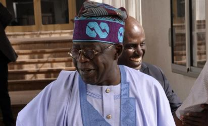 Photos: Tinubu, Saraki, other in Abuja to meet Buhari