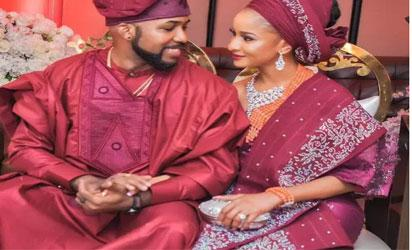 Banky W and wife, Adesua