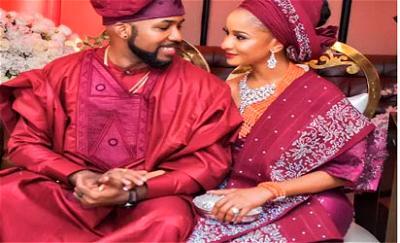 Banky W and wife, Adesua