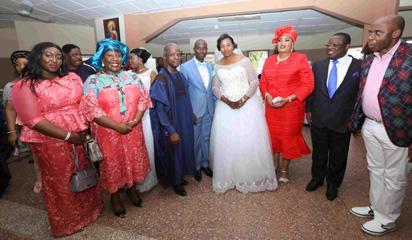 Photos: Osinbajo at staff's wedding in Ebonyi