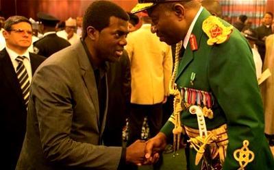 Former President Goodluck Jonathan and bestselling author, Pastor Reno Omokri