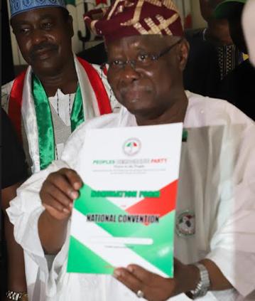 Breaking: Bode George picks PDP Chairmanship nomination form
