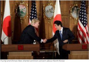 Trump and Shinzo Abe: shared common concern about North Korea