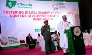 Buhari addresses e-Nigeria Conference