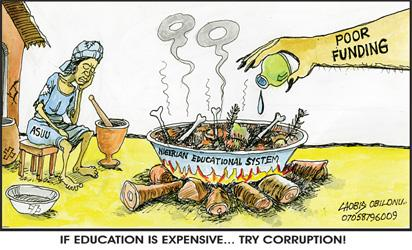 If education is expensive, try corruption