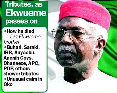 How Ekwueme died — Igwe Laz, brother