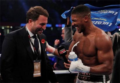 Joshua says promoter Hearn speaking to Fury about fight