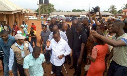 Photos: Obiano thrills electorates with dancing steps