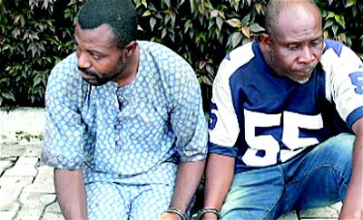 •Suspected members of the nine-man syndicate who specialise in stealing generating sets in Ondo State.