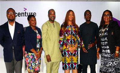 L-R: Odion Omofoman, Founder, United For Education Foundation; Utibe Henshew, Programme Officer, The Education Partnership Centre; Niyi Yusuf, Managing Director, Accenture Nigeria; Abolaji Osime, CEO, Global International College; Teslim Bello, Session Moderator and Amelia Dafeta, Director of Education, Corona Schools' Trust Council during the Accenture Nigeria Alumni Network's education session themed 'Re-imagine Education for the Fourth Industrial Revolution' in Lagos