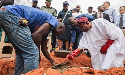 Governor Ogbeni laying the foundation
