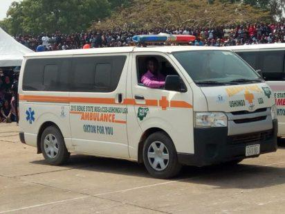 Benue state ambulance convey corpses of victims of herdsmen killings in Benue to IBB Square, Makurdi for funeral rites