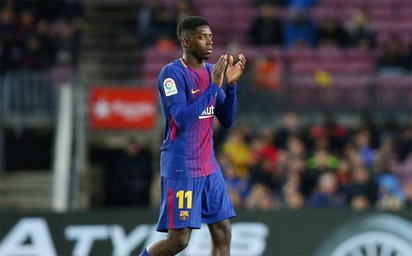 New injury setback for Barca's Dembele