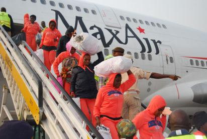Another batch of 487 Nigerian returnees arrive Port Harcourt from Libya