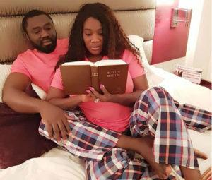 Mercy-Johnson and husband