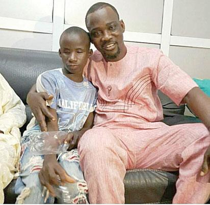 Image result for Pasuma finally meets blind boy who sings like him on the street