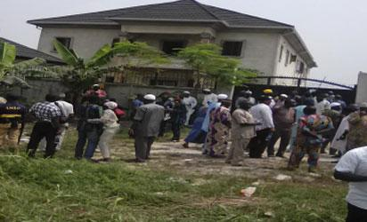 Eti-Osa residents during protest