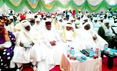 IGP Ibrahim Kpotun-Idris, Governors, traditional rulers and guests during the Northern states stakeholders security summit held in Kaduna on Wednesday