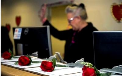 Las Vegas' temporary marriage license office at McCarran International Airport helps marriages get off the ground in Valentine's season without all the fuss