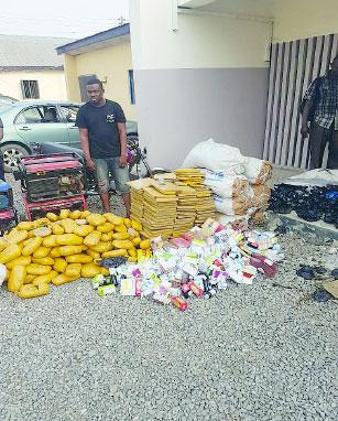 Suspects hide N80million Indian hemp in Bibles, fruits